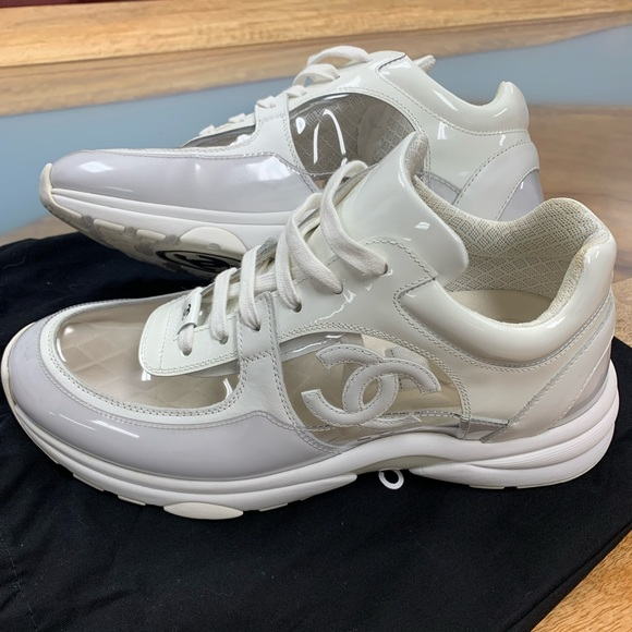 CHANEL Shoes | Chanel White Transparent